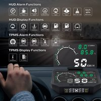 Wholesale tpms car tire pressure monitoring system for sale - Group buy HUD X30 TPMS in OBD OBD2 Car Display Tire Pressure Monitoring System Bluetooth Sensor TPMS Head Up Display X30