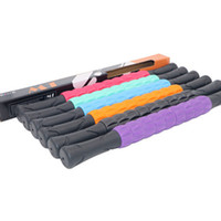 rodillos de yoga al por mayor-Gimnasio portátil masajeador Stick Full Body Roller Plastic Roller Bar Eje Fitness Yoga Deep Muscle Relaxation Stick de masaje LJJZ709