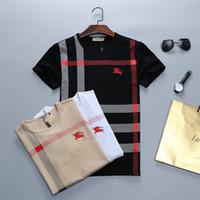 kadın gömlekler toptan satış-Üst Yaz Bahar Tasarımcı Lüks Marka Etiketi Giyim erkek Kumaş Mektuplar Polo T-shirt Yaka Yaka Rahat kadın Paris T-sh Si @ @ S-5