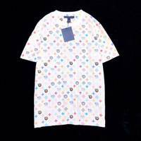mulheres do tshirt do amor venda por atacado-2019 Olho Amor Monograma Logotipo Impressão Tee Moda Masculina de Algodão de Alta Qualidade Tshirt Casual Mulheres Tee T-shirt HFLSTX463