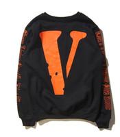kadınlar için büyük sweatshirtler toptan satış-YENI HIP HOP VLONES Erkek Kadın hoodie Kazak Uzun Kollu A $ AP Bari Virgil Büyük V Hoodies