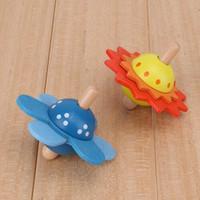 ingrosso mini legno di filatura superiore-I giocattoli educativi di legno dei bambini del fiore girano i giocattoli di legno del bambino per i bambini che girano su sviluppano il regalo GB172 dei giocattoli di intelligenza