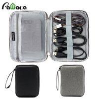 sabit disk toptan satış-Seyahat Elektronik Kablo çanta depolama Organizatör güç Sabit Diskler için USB Kabloları SD Kart Gri siyah Elektronik Aksesuarlar
