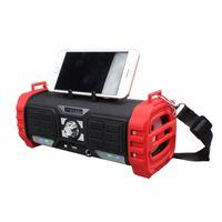 falantes de porta venda por atacado-Multifuncional Bluetooth Speaker LED Dança Luz 10 W Altifalante com Display de Porta de Karaokê Portátil Soundbox com Alça Alça FM M82