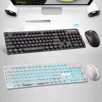 şarj edilebilir klavyeler toptan satış-N528 Kablosuz Klavye ve Fare Combo 2.4 GHz Şarj Edilebilir Klavye Fare Güçlü Uyumluluk Sistemi Şarj Edilebilir