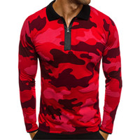 Wholesale men brand collar t shirt resale online - Mens Designer T Shirts Mens Clothing Luxury Fashion Print T Shirt Long Sleeve Cotton Brand t shirt for Men