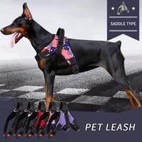 Wholesale husky dog collars resale online - Nylon Heavy Duty Dog Harness Collar Pet Adjustable Padded Extra Big Large Medium Small Dog Harnesses vest Husky Dogs Supplies