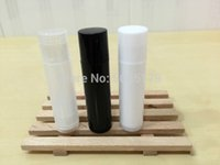 Wholesale g lipstick for sale - Group buy 5ml g Black White Transparent Cosmetic Lip Balm Tube Plastic Makeup Beauty Tool Lipstick Container Concealer Storage Bottle
