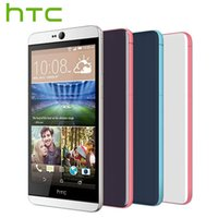 Wholesale m7 phone online – custom Original Unlocked HTC Desire w Dual SIM Otca Core Android phone Dual G LTE oid Quad Core Touchscreen HTC M7 NFC Sensor Smartphon