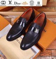 Wholesale sandal business resale online - Vvtisks6 Litchi Leather Business Shoes Guan Men Dress Shoes Boots Loafers Drivers Buckles Sneakers Sandals