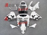 kawasaki zx9r kits de carenado personalizados al por mayor-Nueva motocicleta ABS Kits de carenados de motocicletas aptos para kawasaki Ninja ZX9R 2000 2001 ZX9R 00 01 juego de carrocería Carenado blanco personalizado