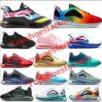 estilo de sapatos de homens azuis venda por atacado-Top quality Nike air max 720 designer de sapatos eclipse total pôr do sol do dia do norte das mulheres dos homens de luxo da lua throwback futuro running sneakers