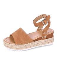 Wholesale flatform sandals for sale - Group buy Hot Sale Girls Big Sandals Flatform Leopard Wedge Heel cm Size