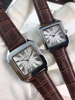 relógios impermeável baratos venda por atacado-2019 mais recente marca índice dial amante relógios modernos finamente processado pulseira de couro movimento relógio de quartzo menina tom presente à prova d 'água ct