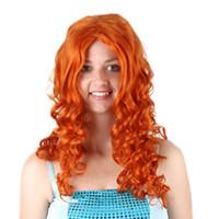 cabelo castanho anime cosplay venda por atacado-2019 quente número valente lenda peruca Cosplay Melinda brown anime peruca longa encaracolado cabelo loiro para as mulheres