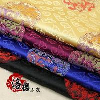 tulle brodé de perles blanc achat en gros de-Costume Hanfu tissu oreiller coussin en acajou ceremonized vêtements de costume soie tissés brocart jacquard damassé -