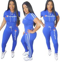 544a8ed1d27eb Wholesale t strings girl for sale - Champions Women Summer Tracksuit Hooded T  Shirt String Pants