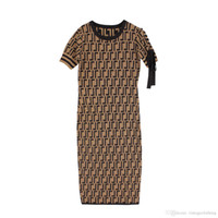 sexy sommerkleider groihandel-Sommer Sexy Frauen Party Kleid Kurzarm Lässige O Neck Skinny Damen Vintage Designer Kleider S-XL