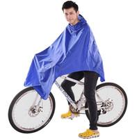 regenmantel tuch großhandel-Ting Ao Radfahren Fahrrad Fahrrad Regenmantel Regen Cape Poncho Stoff Ausrüstung Regenfest Blau Komfort