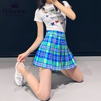 4ed8bab9d8 Harajuku Women Plaid Skirt Punk Style High Waist Pleated Skirt Cute Korean  Uniform Female Kawaii School Girls Short Skirts