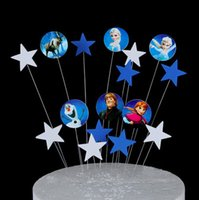 Wholesale cupcake toppers girl for sale - Group buy 100 Birthday Cake Cupcake Muffin Toppers Picks Emoji Spaceship Party Decorations for Girls