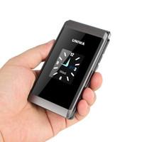 teléfonos móviles qwerty ruso al por mayor-UNIWA X28 Senior Flip Phone GSM Gran pulsador Old Man Flip Teléfono móvil Dual Sim Radio FM Teclado ruso Desbloqueado Teléfono móvil