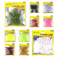 Wholesale soft lure grub worm for sale - Group buy HENGJIA Artificial Soft Fishing Lure pieces one Bag for Japan Shad Soft Fishing Tackle Grub Worm Spiral t Tail Fish Baits