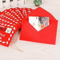 Wholesale New party supplies The Christmas tree is dressed up hang Christmas non woven bag envelope can candy Christmas cards B0753
