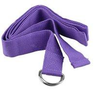 ingrosso cintura di corda di yoga-Articoli caldi di promozione del commercio all'ingrosso 100% cotone Yoga cinture che allungano gli accessori di yoga della corda della cinghia Yoga Trasporto libero YS001
