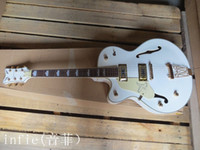 Wholesale left handed white guitar for sale - Group buy Guitars Left Handed JAZZ white Vibratone Tremolo Falcon Single Cutaway Electric Guitar in stock