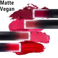 Wholesale matte purple lipstick for sale - Tree Inside Long lasting waterproof lipstick Matte lip gloss green purple blue red Liquid lipstick Velvet matte Lip makeup