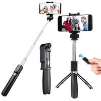 ausziehbare monopod funkfernbedienung großhandel-2019 heißer Verkauf L01 Bluetooth Drahtlose Fernbedienung Erweiterbar Selfie Stick Stativ Einbeinstativ Ständer für 3,5-6,2