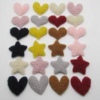 Wholesale diy handmade hair accessories resale online - 24 styles New love heart DIY handmade children s hairpin cute plush star hair rope jewelry accessories materials