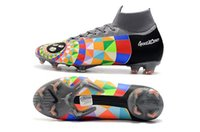 golf vi toptan satış-Mercurial Superfly VI 360 Elite FG KJ 6 XII 12 CR7 Erkek Futbol Profilli Ronaldo Neymar Yüksek topuk Futbol Ayakkabı ACC Futbol Boots