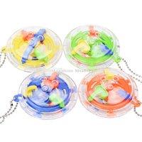 детские игры в лабиринте оптовых-Головоломка Лабиринт мяч волшебные игрушки 3D мини Лабиринт обучающая игрушка для детей игра-головоломка игрушка дети подарок C5810