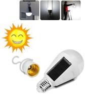 laterne führte innen-außenleuchte großhandel-7 Watt 12 Watt E27 Led-lampe Solarleuchten Wiederaufladbare Solarenergie lampe AC 85-265 V Outdoor Camping Reise Tragbare Notzelt laterne