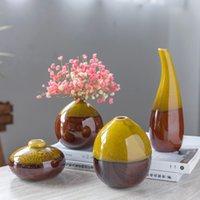 ingrosso pot di fiore classico-Creativo Classico Vaso in ceramica Mini Hydroponics Vasi per fiori Decorazione Home Flower Pot Decor Accessori Modern Y19062803