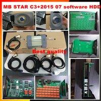 testadores estrela mb venda por atacado-2015.07 Mais recente de alta Qualidade MB Diagnóstico Multiplexador Tester MB Estrela C3 conjunto completo com todos os cabos + Software com HDD interno