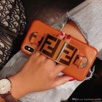 роскошные мобильные чехлы оптовых-IphoneXSMAX XR XS дизайнер чехол для мобильного телефона Iphone7P 8P Iphone7 8 6P 6 модный бренд полный чехол защитная пленка роскошный чехол для мобильного телефона