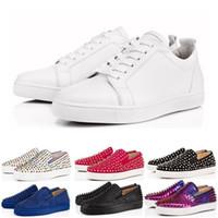 8950afdd0f04 Wholesale glitter tennis shoes resale online - Designer luxury fashion  Brand Red Bottom Studded Spikes Flats