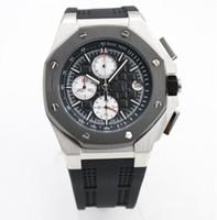 недорогие часы из нержавеющей стали оптовых-S2-2019 New-top-brand-luxury-men-s-sports-watches 44MM группа популярной нержавеющей стали хорошие качества роскошные мужские часы