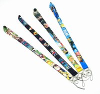 Wholesale one pieces anime resale online - New Cartoon ONE PIECE Top Quality Universal Mobile Phone Strap Anime Cartoon Key Chain Neck Lanyard Badge Holder Strap K033