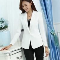knopfverschluss großhandel-2019 Herbst Frauen Blazer Frauen Casual Anzug Womens Single Button Slim Jacke Weibliche Top Mantel Cape Damen SK185 # 408665