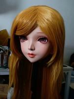 crossdresser japonés al por mayor-(Nuevo 03) Mascarilla de goma de silicona femenina hecha a mano Cosplay Kigurumi Máscara Crossdresser Doll Kigurumi Japanese KIG Anime Role Play