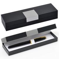 regalos de negocios de regalos al por mayor-Bolígrafos de estilo de negocios Caja de embalaje Pluma estuche Funda de promoción Caja de regalo de souvenirs personalizable LOGO QW9664