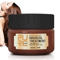 cabelo mágico venda por atacado-PURC mágico Tratamento Cabelo Máscara raízes do cabelo Molecular condicionador profundo para a seco danificado 120ml 60ml cabelo