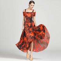 dança senhora vestidos venda por atacado-Modern Mulheres Senhoras Dancewear Waltzing Tango Dança Ballroom Costume Moda Party Dress Dance Wear
