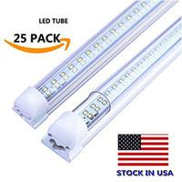 3ft led röhrenlampe großhandel-2FT 3FT 4FT LED T8 Röhren Zweireihig Integrierte LED-Glühlampen 18W 28W 36W SMD2835 LED-Leuchten 85-265V Leuchtstofflampen Lampen