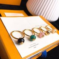 anel de coral de 18k venda por atacado-B BLOSSOM 18 K ágata de ouro anel de diamante de luxo designer de jóias mulheres anéis de noivado anéis para as mulheres 19 acessórios de moda de luxo Q9L99E