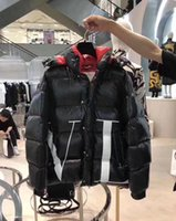 men s casual jacket designs groihandel-Neuestes Design Frankreich Marke Men Casual Down Jacket Daunenjacke Herren Outdoor-Pelz-Kragen-Warm-Feder-Kleid-Winter-Mantel-Jacken